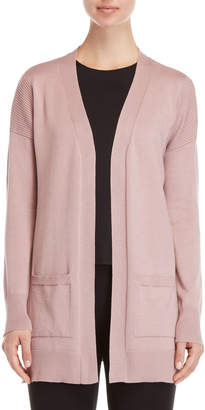 Pink Rose Longline Open Cardigan