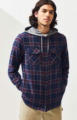 Vans Parkaway Hooded Plaid Flannel Shirt