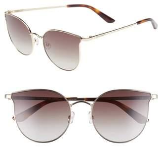 Juicy Couture 56mm Metal Cat Eye Sunglasses