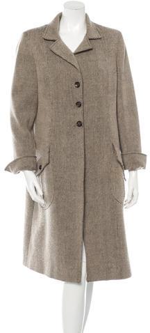 ValentinoValentino Long Sleeve Knit Coat
