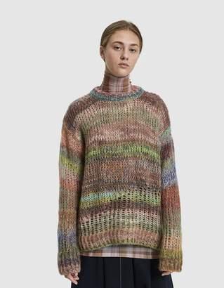 Acne Studios Long Open-Knit Sweater