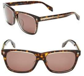 Alexander McQueen 57MM Rectangle Sunglasses