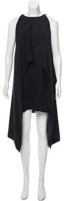 Kaufman Franco KAUFMANFRANCO Flyover Sleeveless Cape Dress