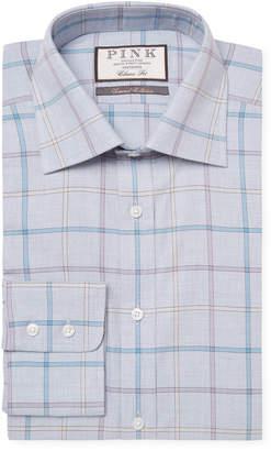 Thomas Pink Jarl Windowpane Dress Shirt