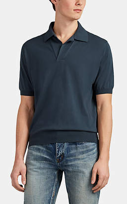 Cifonelli Men's Cotton Polo Shirt - Charcoal