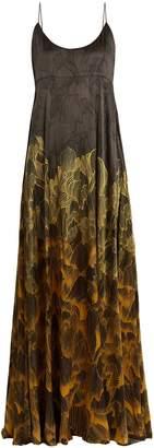 ADRIANA IGLESIAS Brando floral-print stretch-silk gown
