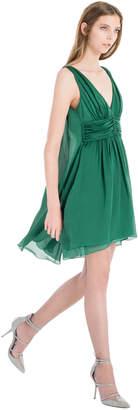 Max Studio translucent silk charmeuse dress