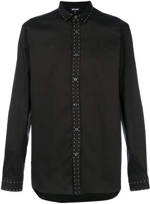 Just Cavalli studded long-sleeved shirt