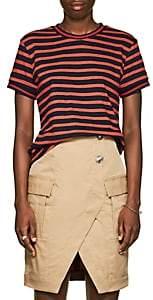Derek Lam 10 Crosby Women's Striped Cotton T-Shirt - Red