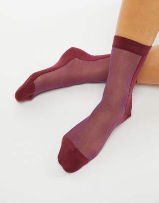 Paul Smith PS PS by contrast mesh sock