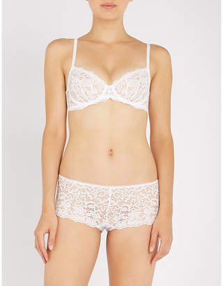 DKNY Classic unlined lace underwired bra