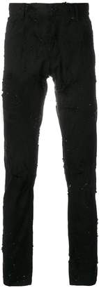 Ann Demeulemeester distressed skinny jeans