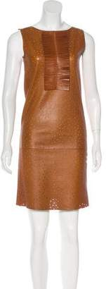 Fendi Leather Shift Dress