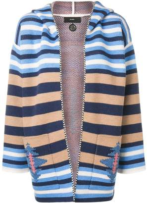 Alanui striped hooded cardigan