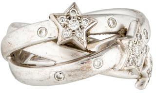 ChanelChanel 18K Diamond Comete Star Crossover Ring