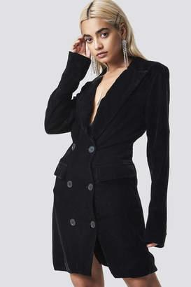 Na Kd Party Velvet Blazer Dress Black