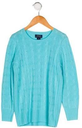 Polo Ralph Lauren Girls' Cashmere Knit Sweater