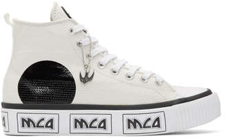 McQ Off-White Metal Logo Platform High-Top Sneakers