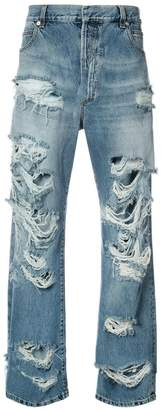 Balmain distressed slouched jeans