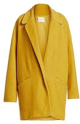 Halston Women's Oversized Boiled Wool Coat