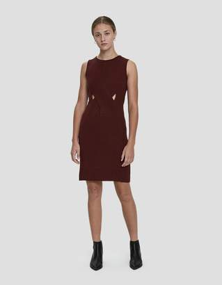 Which We Want Sara Sleeveless Rib Knit Dress in Wine