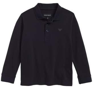 Armani Junior Long Sleeve Polo