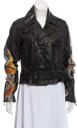 Belstaff Notch-Lapel Leather Jacket