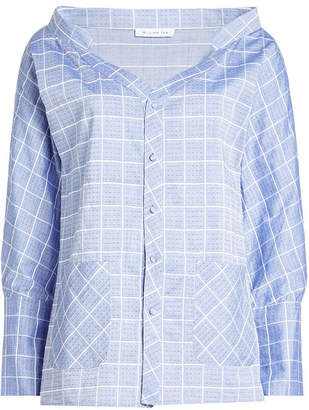 WILLIAM FAN Off-The-Shoulder Cotton Shirt