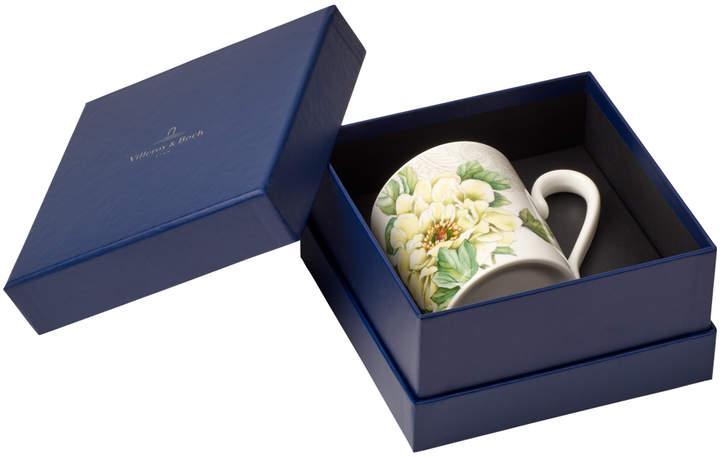 Quinsai Garden Mug: Peony (gift boxed) 10 oz