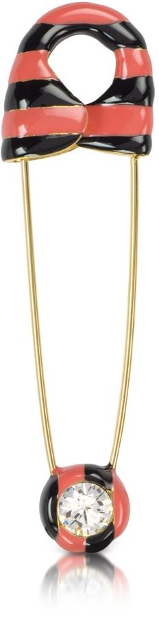 Sonia Rykiel Striped Safety Pin Brooch