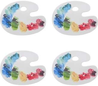 Fishs Eddy Artist Palette Small Ceramic Coasters (Set of 4)