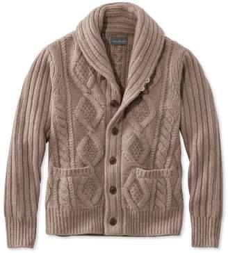L.L. Bean L.L.Bean Men's Signature Mapleton Wool Sweater, Shawl Collar Cardigan