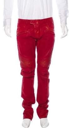 Balmain Skinny Biker Jeans w/ Tags
