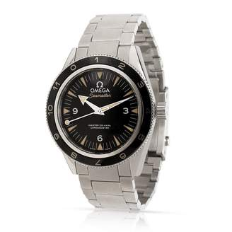 Omega Vintage Seamaster Black Steel Watches