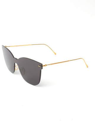 Illesteva Piazza Mask Mirrored Sunglasses