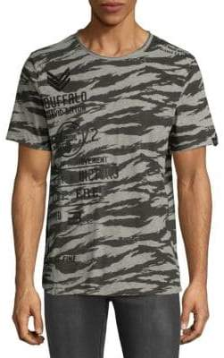 Buffalo David Bitton Camouflage Cotton Tee