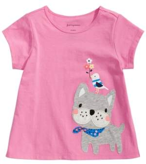 First Impressions Baby Girls French Bulldog Graphic T-Shirt, Created for Macy's