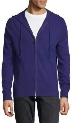 Cashmere Front-Zip Hoodie