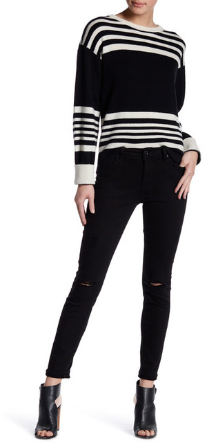 7 For All Mankind7 For All Mankind Gwenevere Distressed Skinny Ankle Jean