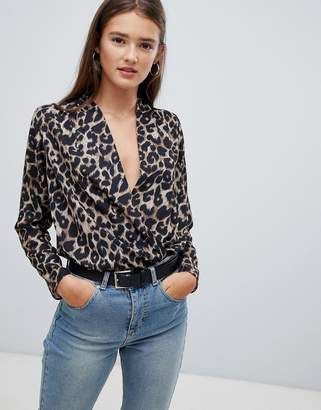 New Look Leopard Print Wrap Body