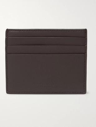Bottega Veneta Intrecciato Leather Cardholder - Men - Brown