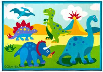 Olive Kids Wildkin Dinosaur Land Blue/Green Area Rug Rug
