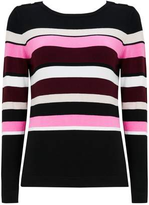 Wallis Pink Striped Crew Neck Jumper