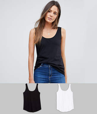 Asos Tall DESIGN Tall ultimate tank 2 pack