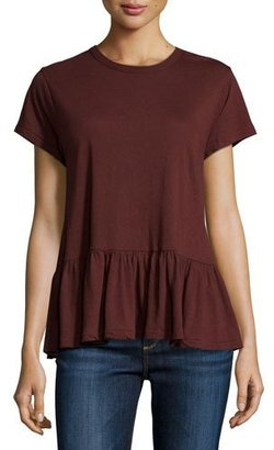 The Great The Ruffle Tee, Dark Wine $135 thestylecure.com