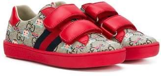 Gucci Kids web stripe sneakers