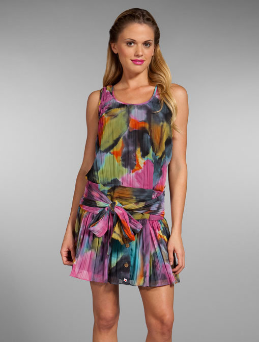 Walter Watercolor Flowers Dress