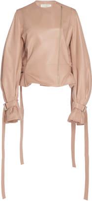 Cyclas Semi Shiny Leather Riders Jacket Size: 34