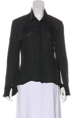 Ann Demeulemeester Long Sleeve Button-Up Top