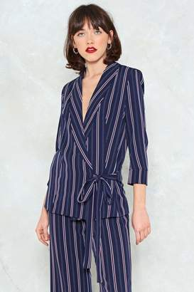 Nasty Gal New Wave Tie Waist Blazer